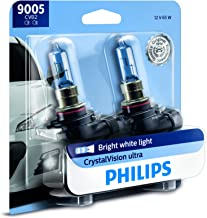 Philips 9005 CrystalVision Ultra Upgrade Bright White Headlight Bulb, 2 Count