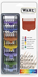 Wahl Professional 8 Color Coded Cutting Guides with Organizer #3170-400 – Great for Professional Stylists and Barbers – Cu...