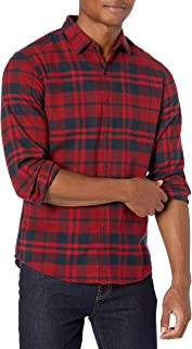 Men's Slim-Fit Long-Sleeve Flannel Shirt
