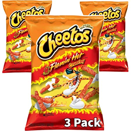 Cheetos Flamin Hot Crunchy 8.5oz Pack of 3