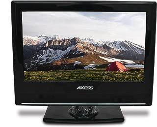 AXESS TVD1801-13 13.3-Inch LED HDTV, Features 12V Car Cord Technology, VGA/HDMI/SD/USB..