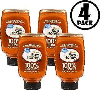 (Pack o 4) Great Value Clover Raw Honey, 32 oz