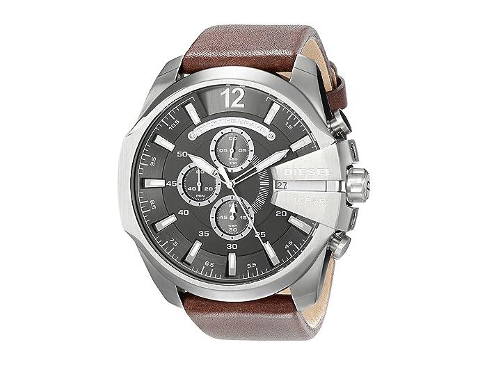 Diesel  DZ4290 Leather Quartz Watch (Brown/Gunmetal) Watches
