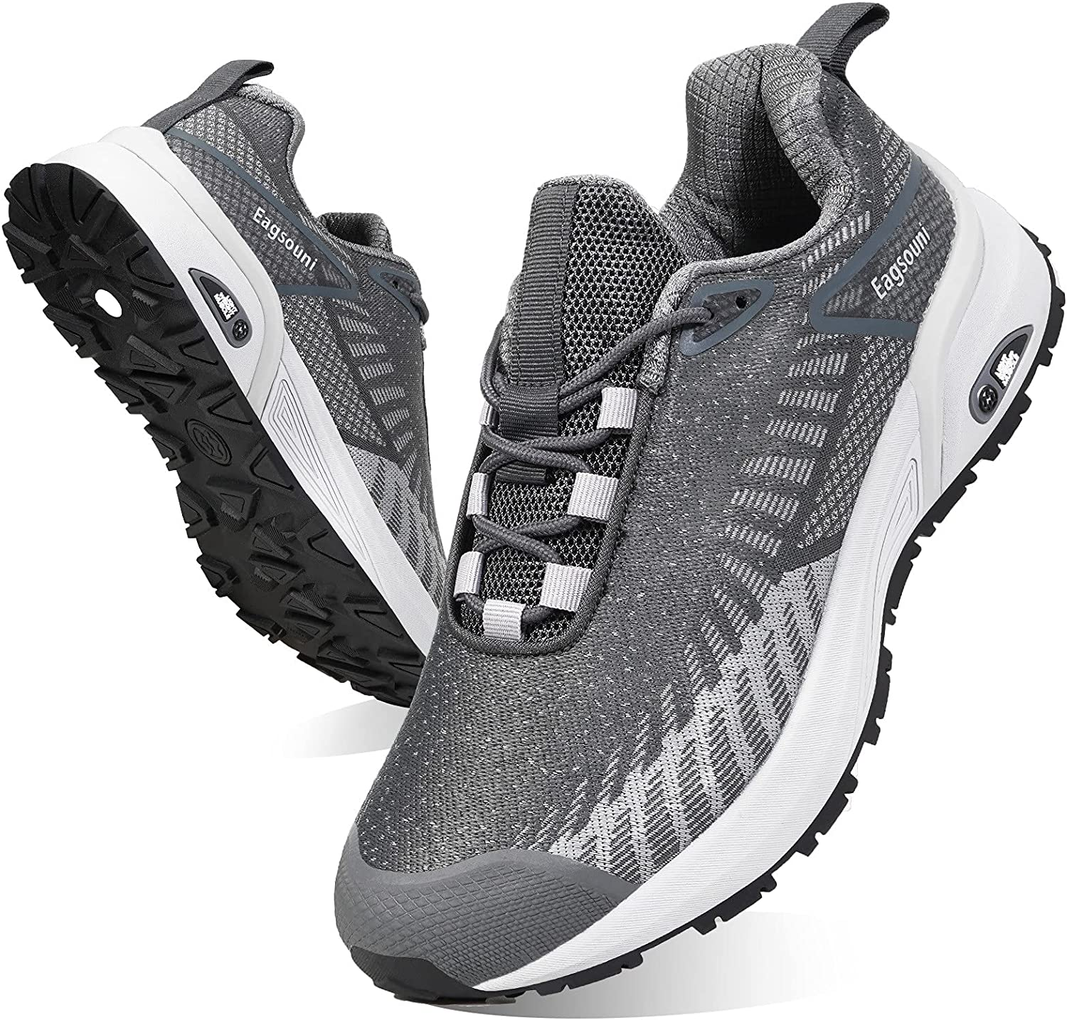Eagsouni Men's Running Shoes Lightweight Non Slip Sneakers Women's Breathable Walking Fashion Athletic Gym Tennis Shoes