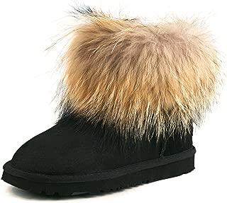 AUSLAND Women's Short Sheepskin Fur Snow Boot 98751