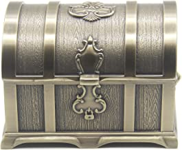 AVESON Rectangle Vintage Metal Treasure Chest Trinket Jewelry Box Gift Box Ring Case for Girls Ladies Women, Medium, Bronze