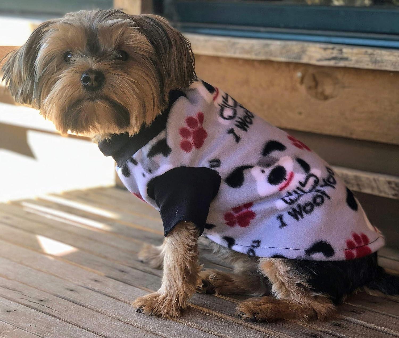 ObiBed Soft Warm High quality Fleece Dog Grey I Woof 5 ☆ very popular Coat You