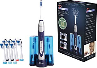 Pursonic High Power Rechargeable Sonic Toothbrush, Bonus 12 Toothbrush Heads Included