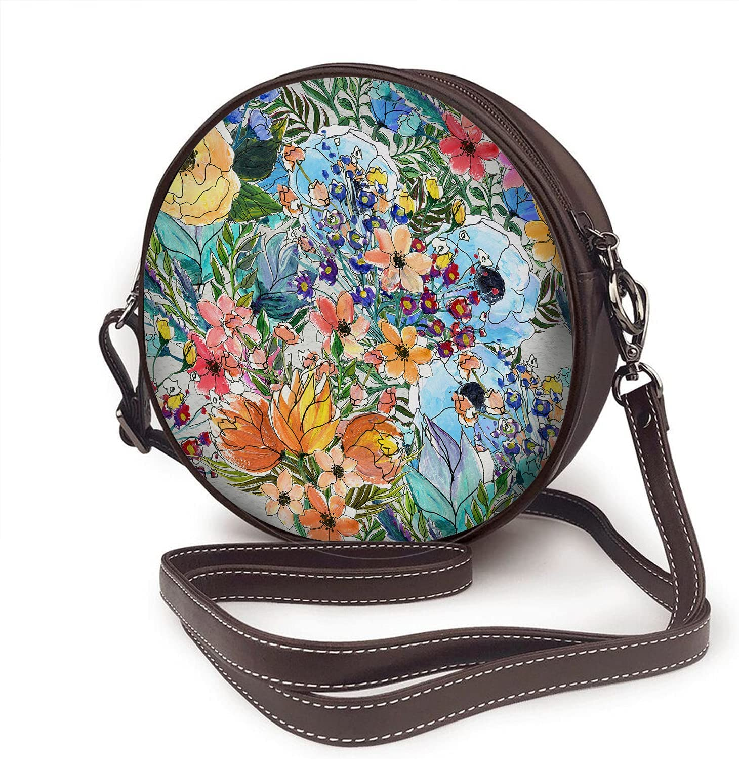 WONDERTIFY Max 42% OFF Flowers Shoulder Bags Watercolor Blossom 4 years warranty Pl Rose Herb
