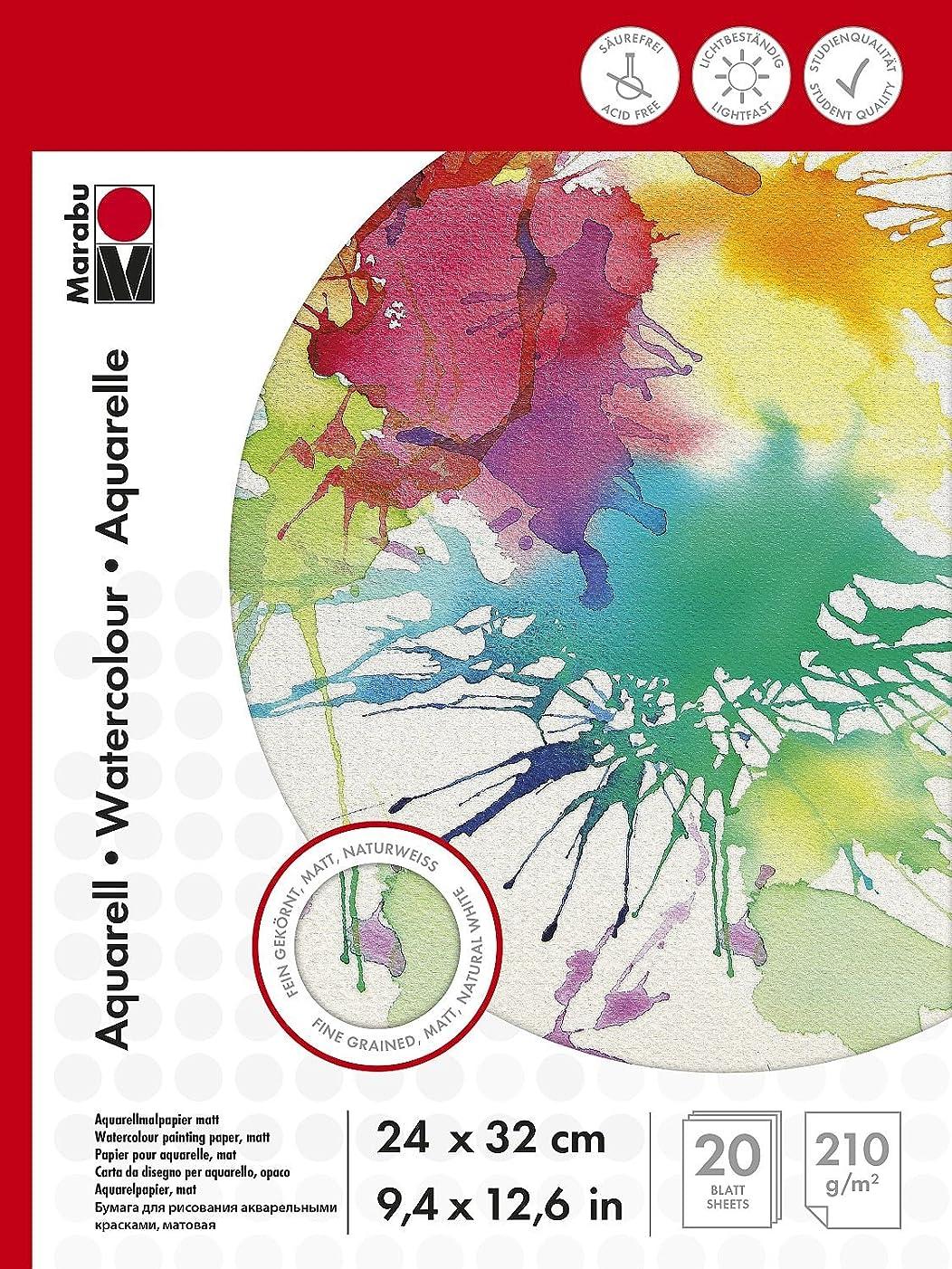 Marabu 161200024?Watercolour Pad, 24?x 32?cm, 210?g