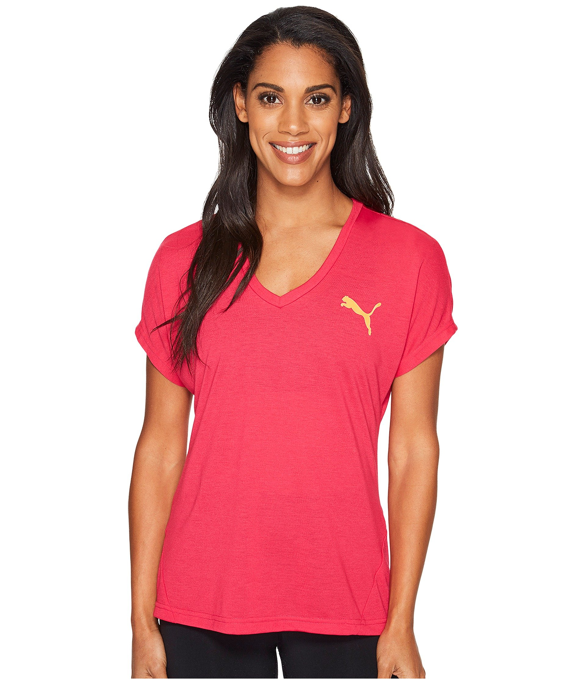 6addf1eea93 Puma Elevated Sporty Tee In Bright Rose