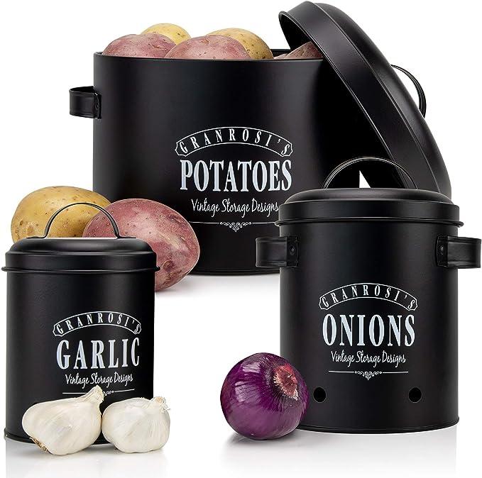 1953 opinioni per Granrosi- Set di contenitori: contenitore per aglio, per cipolla e per patate in