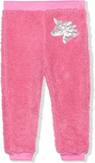 Sponsored Ad - Young Hearts Jog Pants for Girls, Elastic Waistband and Ribbed Cuffs, Heathered Gray with Heart