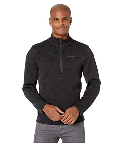 Spyder Encore 1/2 Zip Fleece Jacket (Black) Men