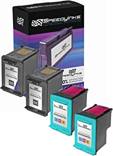 Speedy Inks Remanufactured Ink Cartridge Replacement for HP 98 and HP 95 (2 Black, 2 Color, 4-Pack)