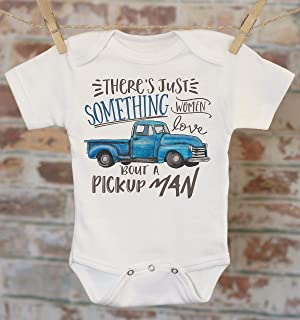 Blue Pickup Truck Onesie®, Classic Truck Onesie, Cute Boys Clothes, Baby Shower Gift, Funny Baby Clothes, Baby Boy Outfit