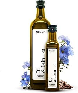 Premium BIO Leinöl von Steinberger   100% rein & kaltgepresst   Geschmacksneutrales Leinöl aus nachhaltigem Anbau   250 ml Glasflasche mit Dosierer   Hoher Gehalt an gesunden Omega-3-Fettsäuren