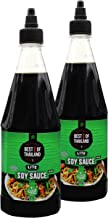 Premium Lite Soy Sauce Low Sodium - No MSG - Kosher - Real Asian Brewed - Ideal for Marinating Fish, Meat & Roasted Vegetables - Squeezable Bottle - (Pack of 2 23.6-oz Bottles) By Best of Thailand