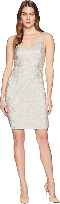 Sparkle V-Neck Sheath Dress CD8B37JC