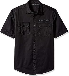 Sean John Men's Short Sleeve Flight Shirt