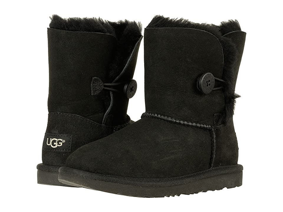 UGG Kids Bailey Button II (Little Kid/Big Kid) (Black) Girls Shoes