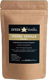 InterVanilla Südsee Vanilleschoten Vanilla Tahitensis, 4 Stück, 12/13 cm. Premium Vanilleschoten. Tolle Alternative zur Bourbon Vanille