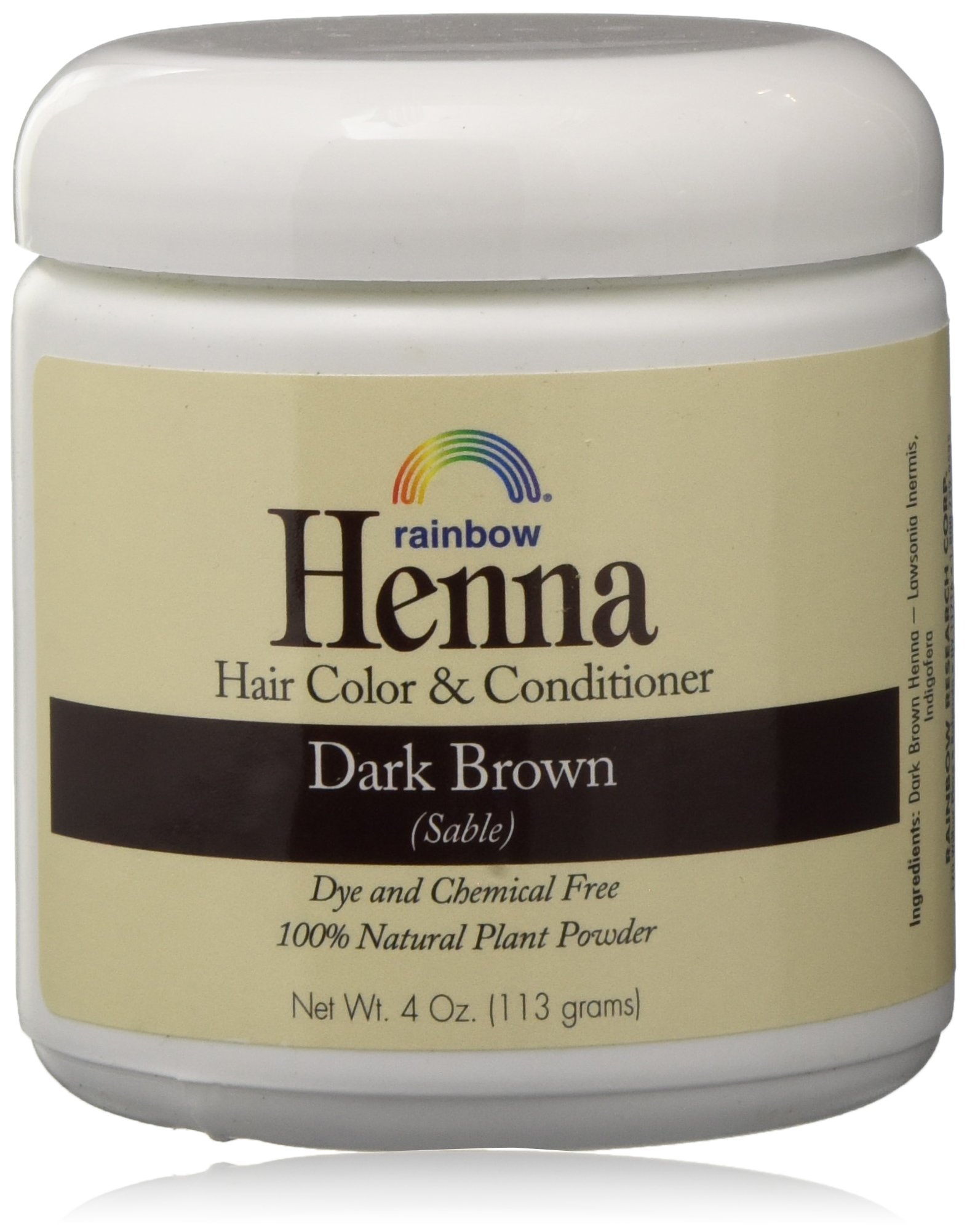 Rainbow Henna Persian Brown Color
