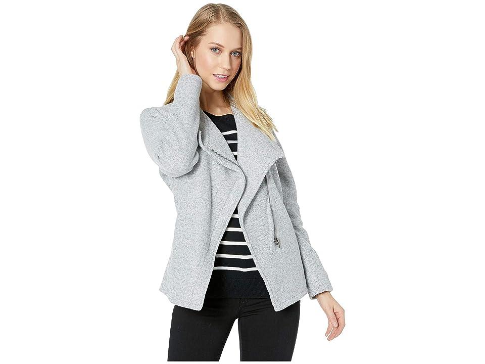 BB Dakota Fleece in Mind Soft Knit Jacket (Light Heather Grey) Women