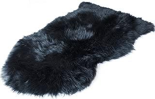 Outlavish Sheepskin Rug Soft Genuine Natural Merino (2 x 3ft, Black)