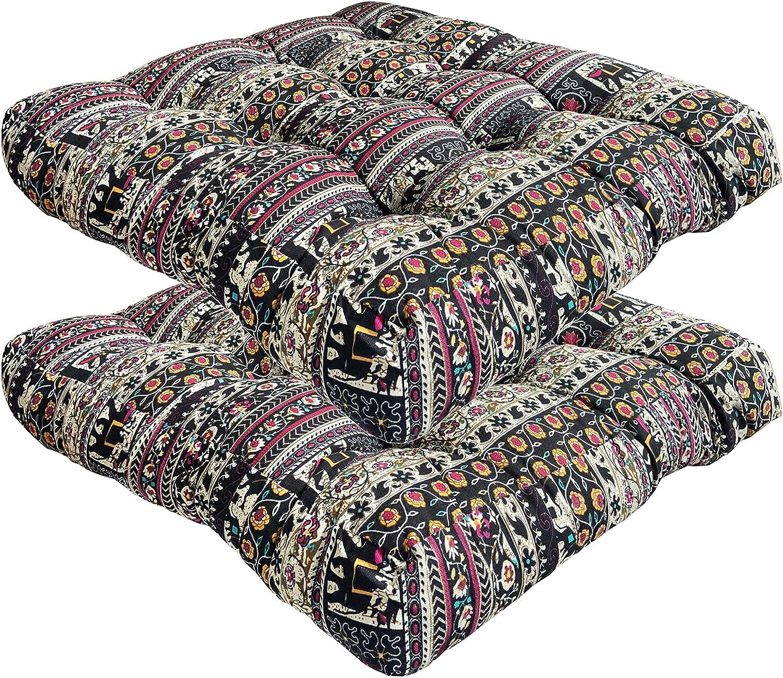 Store 2 Pack Bohemian Mail order Thicken Futon Seating Cushi Yoga Mat Floor