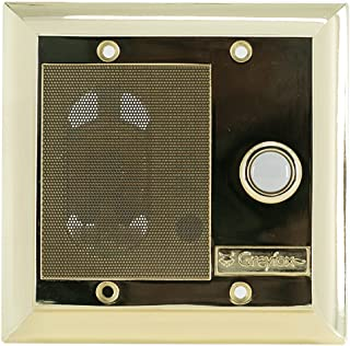 Legrand - On-Q F7596SB Intercom Door Unit, Weather Resistant, Shiny Brass