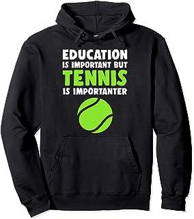 教育は重要 テニスは重要 裁判所 ボール プレゼント パーカー