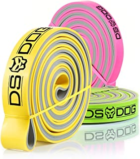 DS DOG 3 Dual Color Resistance Bands for Workout, Fitness, Gym, Crossfit, Body Stretch, Powerlifting. Pull up Assist Band ...