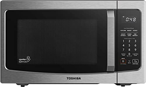 Toshiba ML-EM34P(SS) Smart Countertop Microwave Oven Compatible with Alexa, Humidity Sensor and Sound on/Off Function...