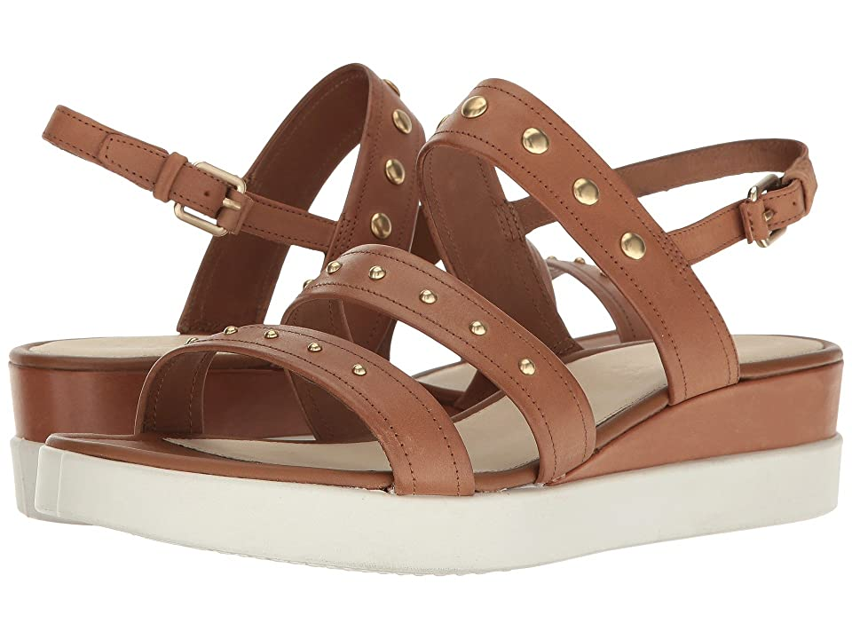 ECCO Touch Strap Plateau (Whisky Cow Nubuck) Women's Sandals, Brown