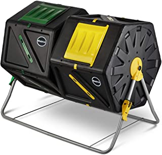 Sponsored Ad - Miracle-Gro Large Dual Chamber Compost Tumbler – Easy-Turn, Fast-Working System – All-Season, Heavy-Duty, H...