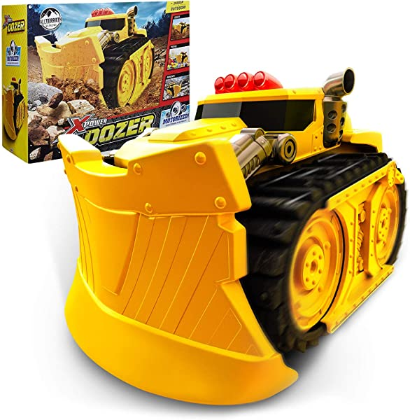 Xtreme Power Dozer Motorized Extreme Bulldozer Toy Truck For Toddler Boys Kids Who Love Construction Toys Plow Through Dirt Toys Wood Rocks Indoor Outdoor Play Spring Summer Fall Winter