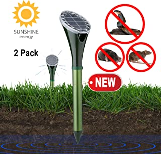 Tysonir Solar Powered Snake Repellent for Outdoor, Electronic Snake Repellent, Get Rid of Snake Mole Gophers for Outdoor Garden Yard 2 Pack