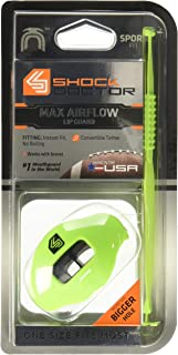 Best Shock Doctor Max Airflow 2.0 Lip Guard / Mouth Guard. Football Mouthguard 3500. For Youth and Adults OSFA. Breathable Wide Opening Mouthpiece. Helmet Strap Included Review