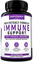 17 in 1 Daily Immune Support Supplement with Vitamin C, Elderberry, Zinc, Ginger and More (90 Capsules) - High Potency Imm...