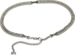 Kate Spade York Bow Double Chain Belt In Nickel (Size M/L)
