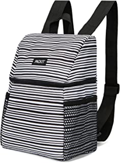 Packit Freezable Lifestyle Lunch Backpack, Black/White, 72140, one Size