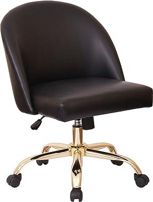 Amazon Com Serta Valetta Upholstered Home Office Desk Modern Swivel Accent Chair Memory Foam Seating Gray Furniture Decor