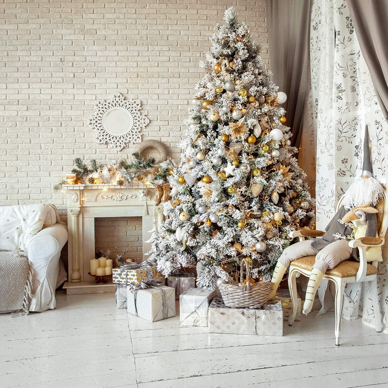 LYXCSM 10X10FT Indoor Wooden Large-scale sale Phot Floor Tree Discount is also underway Christmas