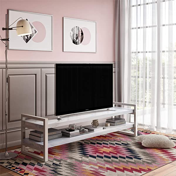 CosmoLiving Coco TV Stand For TVs Up To 65 White Marble