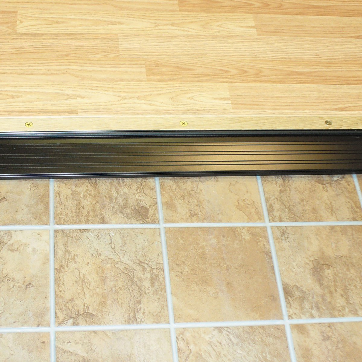 M-D Building Products 77792 1-1/8-Inch by 4-9/16-Inch - 36-Inch TH393 Adjustable Aluminum and Hardwood Sill Inswing, Bronze