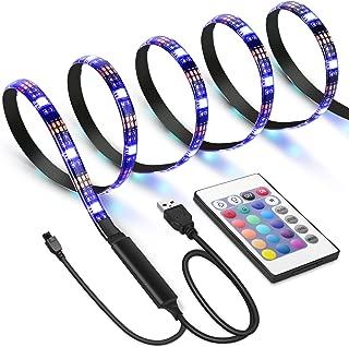 AMIR TV LED Light Strip, 30 LED TV Backlight Strip, USB Bias Monitor Lighting, Changing Color Strip Kit , Accent Light Set , Waterproof Bias Lighting For TV Desktop PC (Wireless remote controller)