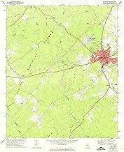 YellowMaps Eatonton GA topo map, 1:24000 Scale, 7.5 X 7.5 Minute, Historical, 1972, Updated 1974, 26.9 x 22 in