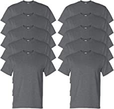 Gildan Adult DryBlend Sports T-Shirt, Dark Heather, L (Pack of 10)