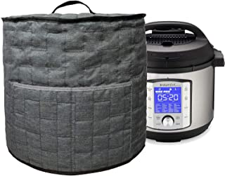 Pressure Cooker Dust Cover with Pocket,Easy Cleaning (For 6 Quart Instant Pot, Grey)